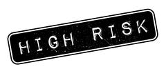 High Risk rubber stamp Stock Illustration