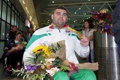 Ruzhdi Ruzhdi gold medal Stock Photos