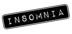 Insomnia rubber stamp Stock Illustration