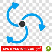 Fan Rotation Round Vector Eps Icon Stock Illustration