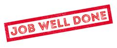 Job Well Done rubber stamp Stock Illustration