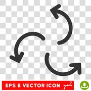 Cyclone Arrows Round Vector Eps Icon Stock Illustration