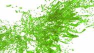 Green big splashes in slow motion with DOF. nectar Stock Footage