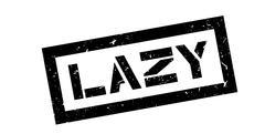 Lazy rubber stamp Stock Illustration