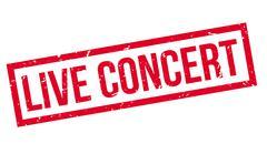 Live Concert rubber stamp Stock Illustration
