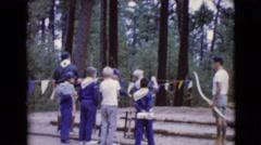 1968: boy scouts take aim at target CLARKSDALE, ARIZONA Stock Footage