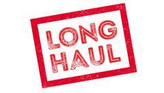 Long Haul rubber stamp Stock Illustration