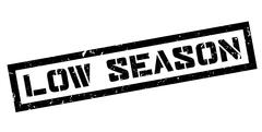 Low Season rubber stamp Stock Illustration