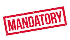 Mandatory rubber stamp Stock Illustration