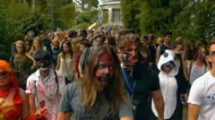Zombies in the city, halloween, horror Stock Footage