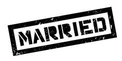 Married rubber stamp Stock Illustration