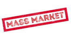Mass Market rubber stamp Stock Illustration