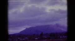 1968: storm threatens to close down mountain for skiing and recreation. Stock Footage