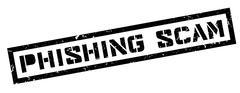 Phishing Scam rubber stamp Stock Illustration