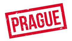 Prague rubber stamp Stock Illustration