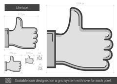 Like line icon Stock Illustration