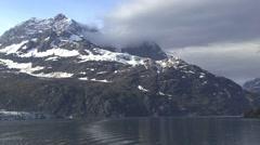 Glacier Bay Alaska Mountain View Stock Footage