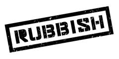 Rubbish rubber stamp Stock Illustration