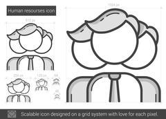 Human resources line icon Stock Illustration