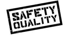 Safety Quality rubber stamp Stock Illustration
