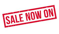 Sale Now On rubber stamp Stock Illustration