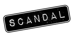 Scandal rubber stamp Stock Illustration
