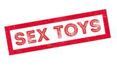 Sex Toys rubber stamp Stock Illustration