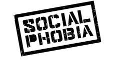 Social Phobia rubber stamp Stock Illustration