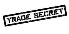 Trade Secret rubber stamp Stock Illustration