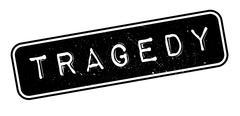 Tragedy rubber stamp Stock Illustration