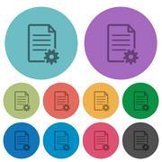 Color document setup flat icons Stock Illustration