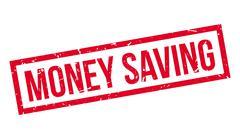 Money Saving rubber stamp Stock Illustration