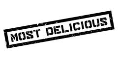 Most Delicious rubber stamp Stock Illustration