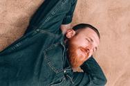 Dreams bearded man Stock Photos