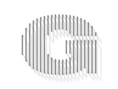 Silver, steel wire font. Letter G Stock Illustration