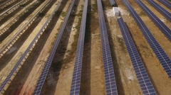 Huge power plant of photovoltaic cells and solar panels Stock Footage