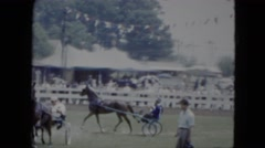 1951: a chariot race being held on a fairground CLEVELAND, OHIO Stock Footage