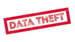 Data Theft rubber stamp Stock Illustration