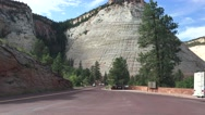 Trike Motorcycle club, Zion National Park, arriving Stock Footage
