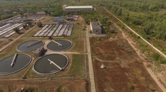 Water treatment plant Stock Footage