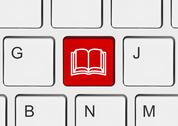 Computer keyboard with Book key Stock Photos