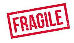 Fragile rubber stamp Stock Illustration