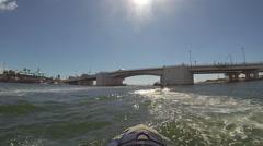 Man On Jet Ski Action Sports water sport Summer fun on a pleasure craft Stock Footage