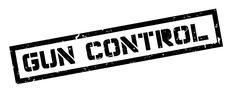 Gun Control rubber stamp Stock Illustration