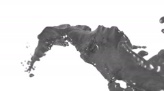 Flying grey fluid stream in slow motion DOF. nectar Stock Footage