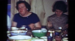 1964: the family reunites for the annual thanksgiving feast CALIFORNIA Stock Footage