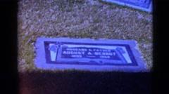 1968: sign board man life width year birth death CLARKSDALE, ARIZONA Stock Footage