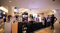 Givenchy store in Kuala Lumpur shopping mall Suria in Petronas Towers. Malaysia Stock Footage