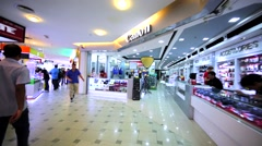 Interior of Low Yat plaza electronics and IT products shop mall. Kuala Lumpur Stock Footage