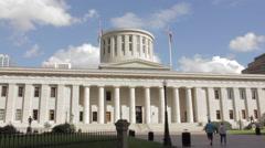 Ohio Statehouse Exterior Stock Footage